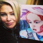 Kim Wilde with painting